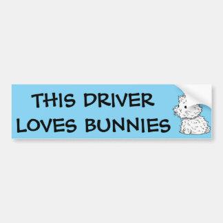 This driver loves bunnies Bumper Sticker