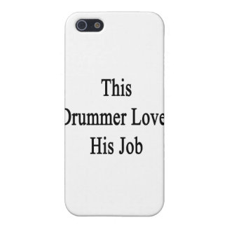 This Drummer Loves His Job iPhone 5/5S Covers