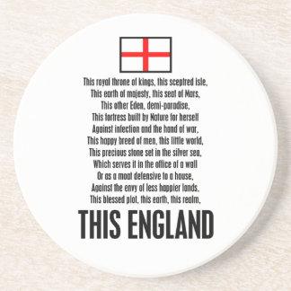 This England Beverage Coaster