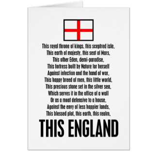 This England Greeting Card