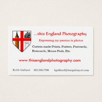 This England Photography Business Card