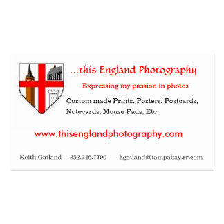This England Photography Pack Of Standard Business Cards