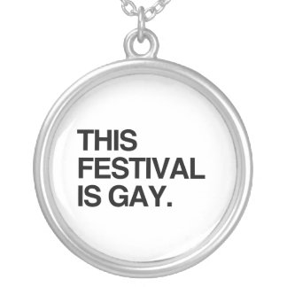 This festival is gay round pendant necklace