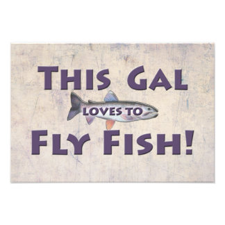 This Gal Loves to Fly Fish! Trout Fly Fishing Photograph