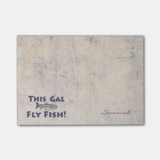This Gal Loves to Fly Fish! Trout Fly Fishing Post-it Notes