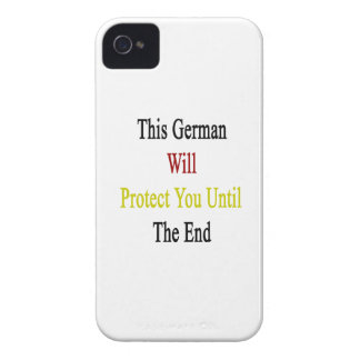 This German Will Protect You Until The End Case-Mate iPhone 4 Cases