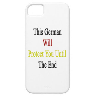 This German Will Protect You Until The End iPhone 5 Covers