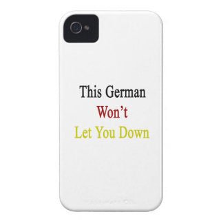 This German Won t Let You Down Case-Mate iPhone 4 Case