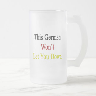 This German Won t Let You Down Coffee Mugs