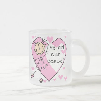 This Girl Can Dance T-shirts and Gifts Frosted Glass Coffee Mug
