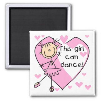 This Girl Can Dance T-shirts and Gifts Magnets