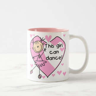 This Girl Can Dance T-shirts and Gifts Two-Tone Coffee Mug