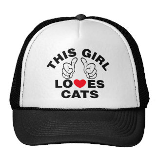 This Girl Loves Cats Cap