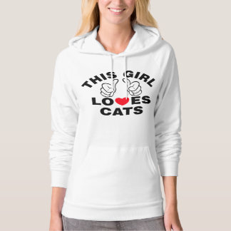 This Girl Loves Cats Hoodie