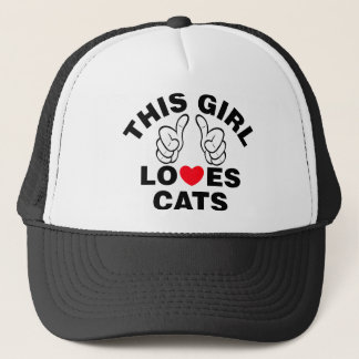 This Girl Loves Cats Trucker Hat