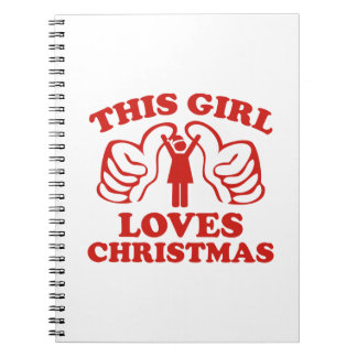 This Girl Loves Christmas Spiral Notebook