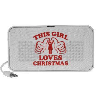 This Girl Loves Christmas Travel Speaker