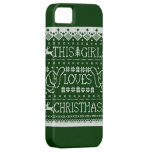 This Girl Loves Christmas Ugly Sweater iPhone 5 iPhone 5 Case