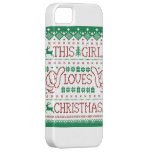 This Girl Loves Christmas Ugly Sweater iPhone 5 iPhone 5/5S Case