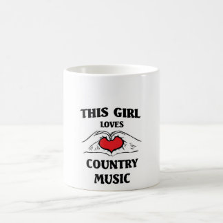 This girl loves Country Music Coffee Mug