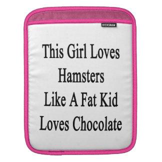 This Girl Loves Hamsters Like A Fat Kid Loves Choc iPad Sleeve