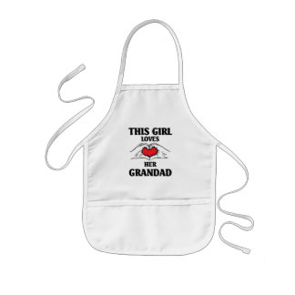 This girl loves her Grandad Kids Apron