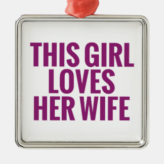 This Girl Loves Her Wife Christmas Ornament