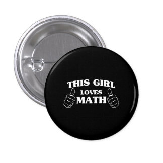 This Girl Loves Math 3 Cm Round Badge