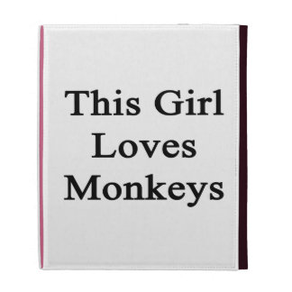 This Girl Loves Monkeys iPad Folio Cases
