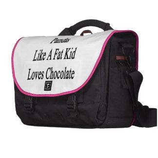 This Girl Loves Pandas Like A Fat Kid Loves Chocol Laptop Shoulder Bag