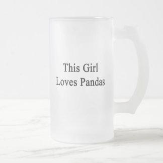 This Girl Loves Pandas Glass Beer Mugs