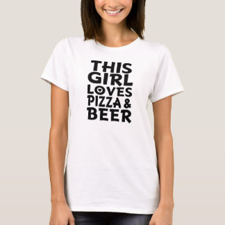 This Girl Loves Pizza and Beer Funny womens shirt