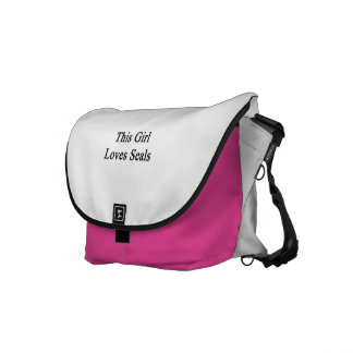 This Girl Loves Seals Messenger Bags