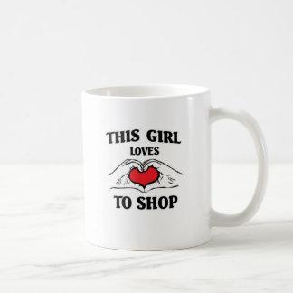 This girl loves to Shop Basic White Mug