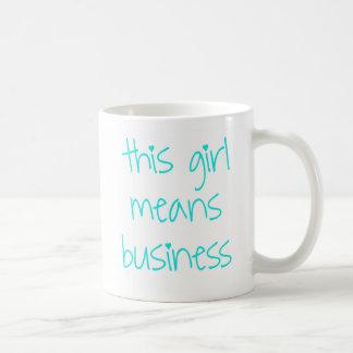 this girl means business - #edit-this-hashtag basic white mug