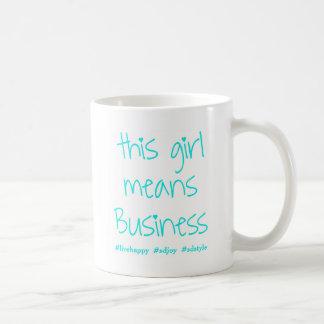 This Girl Means Business (SD) Basic White Mug