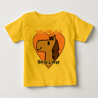 This Girls Is a Horse Lover Baby T-Shirt