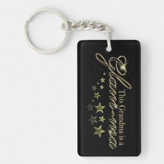 This Grandma is a Glam-ma Double-Sided Rectangular Acrylic Key Ring