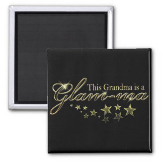 This Grandma is a Glam-ma Square Magnet