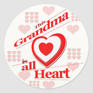 This Grandma is all Heart Sticker