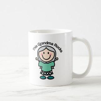 This Grandma Rocks Gift Idea Basic White Mug