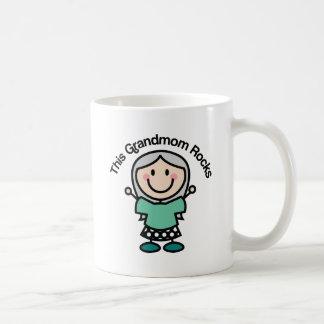 This Grandmom Rocks Gift Idea Basic White Mug