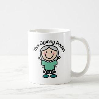 This Granny Rocks Gift Idea Basic White Mug