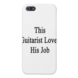This Guitarist Loves His Job iPhone 5 Covers