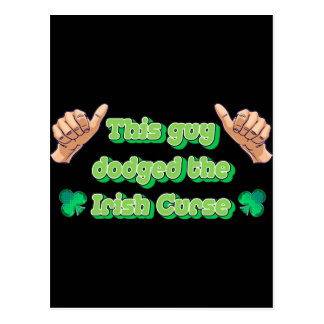 This Guy Dodged the Irish Curse Postcard