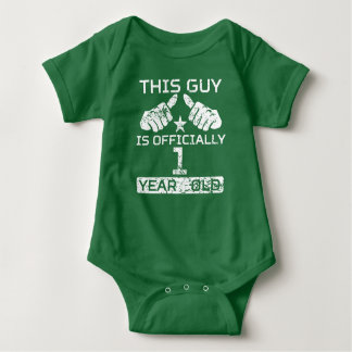 This Guy Is Officially 1 Year Old Baby Bodysuit