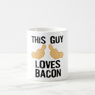 This guy loves bacon basic white mug