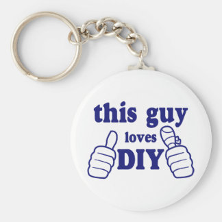 This Guy Loves DIY Basic Round Button Key Ring