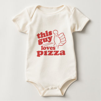 This Guy Loves Pizza Baby Bodysuit