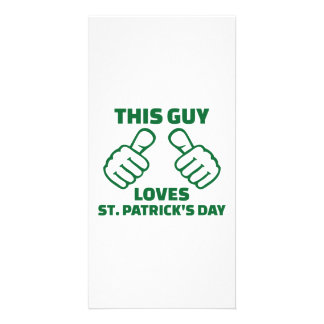 This guy loves St. Patrick's day Personalized Photo Card